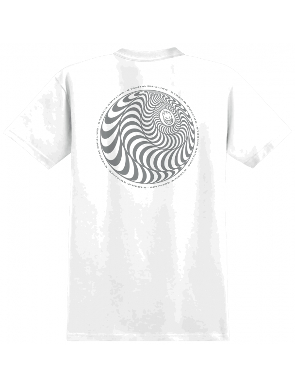 Tee shirt Spitfire S/S Tee Skewed Classic - White Cover Photo