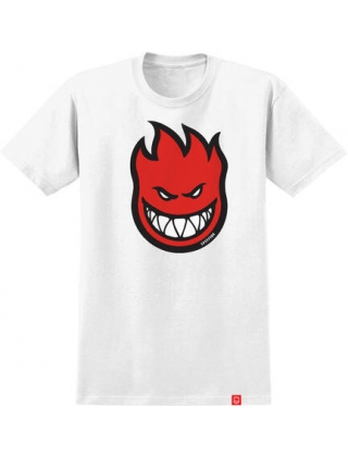 Spitfire Bighead Fill Youth White S/S - White Tee