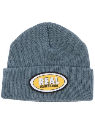 Real Beanie Oval - Slate/Yellow