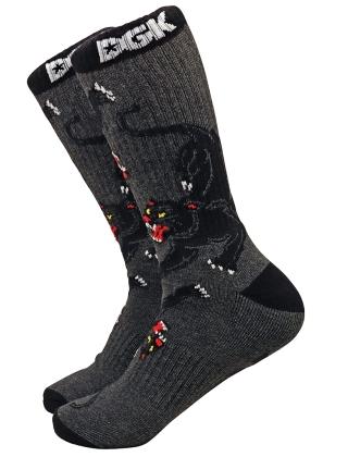 DGK Serene Crew Socks -  Dark Grey/Black