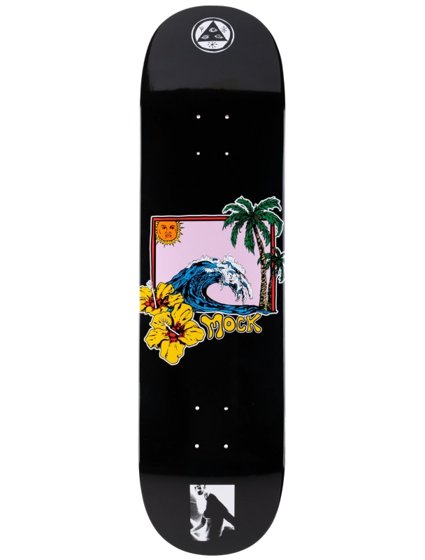 Skateboard deck Welcome Evan Mock on Wave Island 8.38'' - Deck Cover Photo