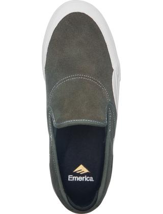 Emerica Wino G6 Slip-On - Olive/White Photo 2