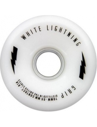 White Lightning Grip 70mm Roues