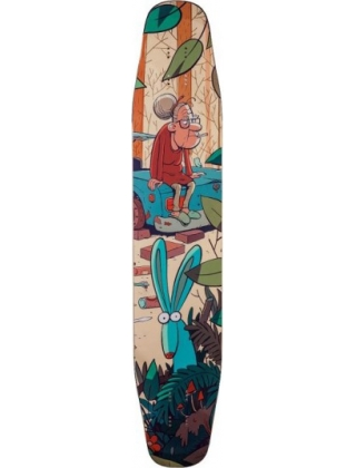 "Alternative Longboards Ostrich Sidewall ""Junkyard"" - Deck Only"