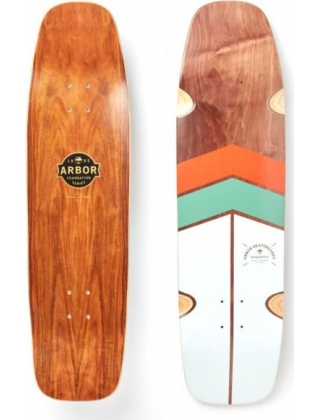 "Arbor Foundation Shakedown 34"" Orange/Mint - Deck Only"