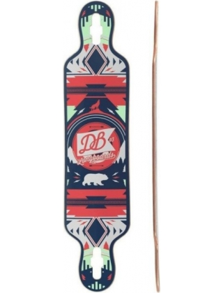 DB Longboards Urban Native 40 Red and Seafoam - Deck Only