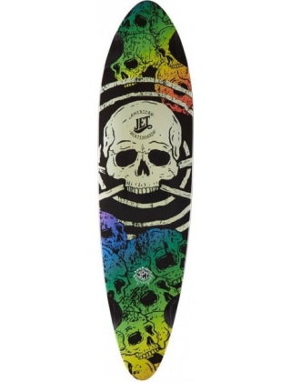 "Jet KingPin 36"" Color Skulls - Deck Only"