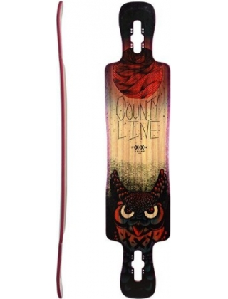 Moonshine County Line Soft Red/Natural/Black- Deck Only