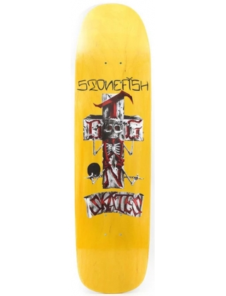 "DOGTOWN STONE FISH POOL YELLOW 8.375"" - DECK ONLY"