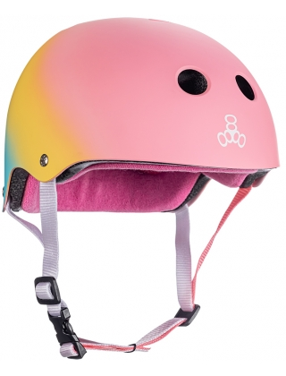 Helmet skateboard, longboard Triple Eight Certified Sweatsaver - Shaved PINK Photo 1