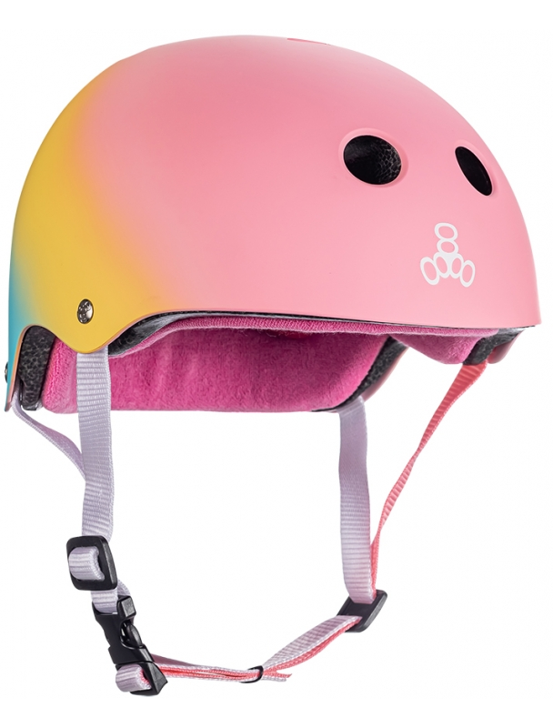 Helmet skateboard, longboard Triple Eight Certified Sweatsaver - Shaved PINK Cover Photo