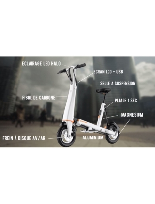 Electric bike Onemile Halo City - White Photo 7