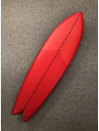 "Chris Christenson LONG PIHS by Chris Christenson - 6'08"" x 21 5/8 x 2 5/8  red tnit"