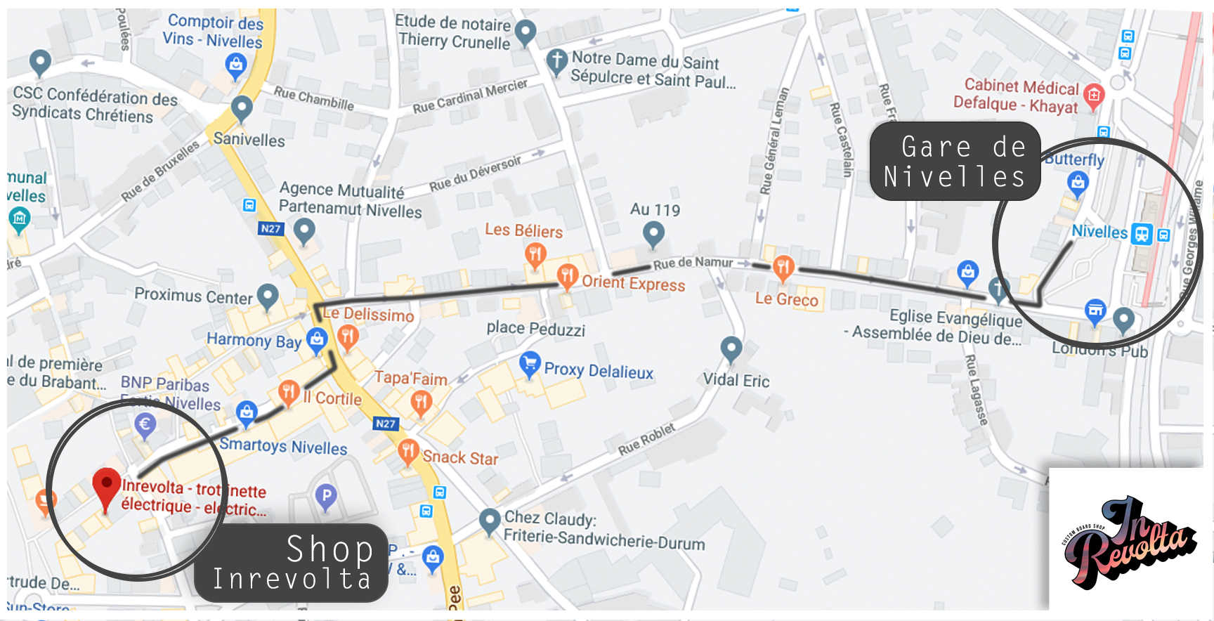 google map gare